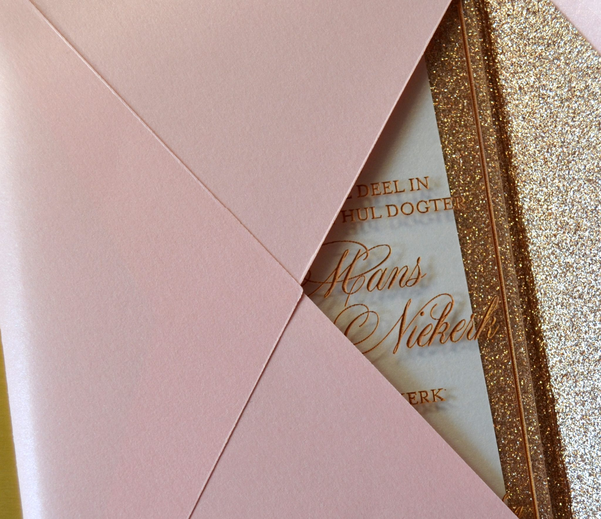 Francois and Bianca's Golden Wedding Invitations