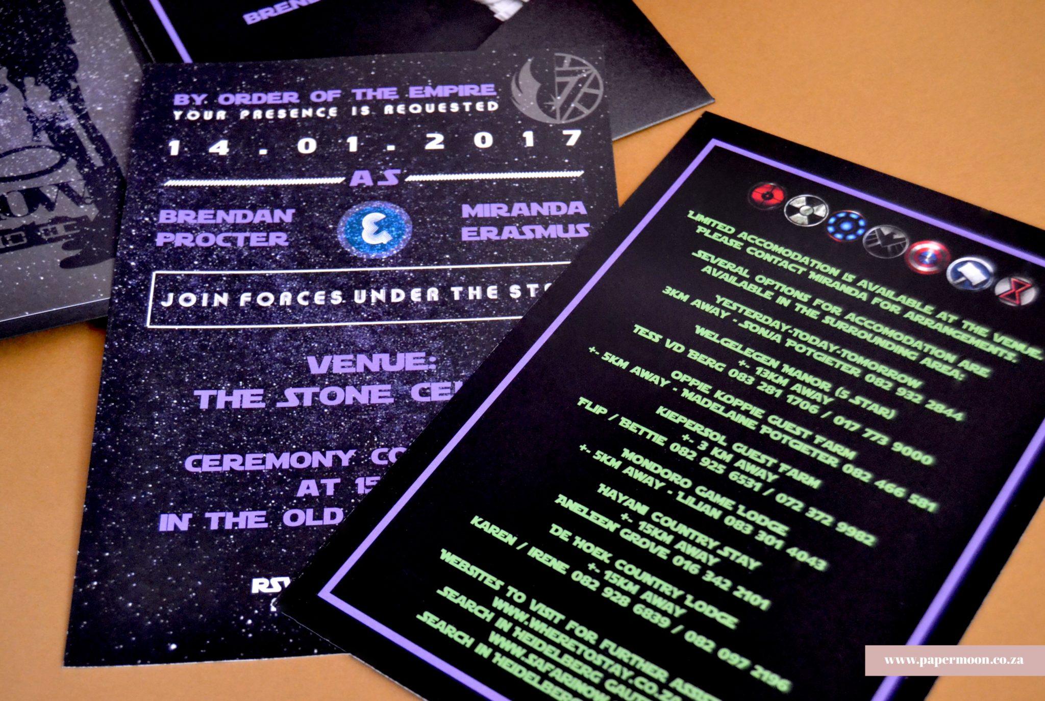 star wars wedding invitations