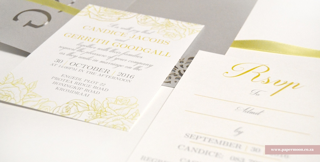 Gerrith and Candice: Rose Inspired Pocket Invitations