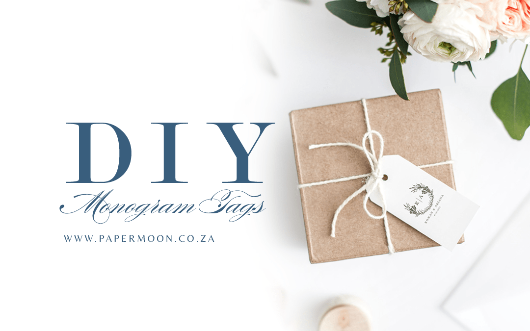 DIY Monogram Tags for Wedding Favours