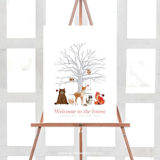 Welcome to the Forest Thumbprint Tree Guestbook