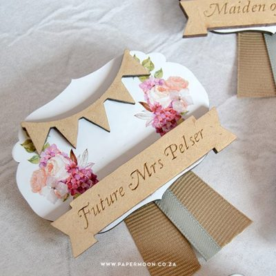 Floral Wedding Badge