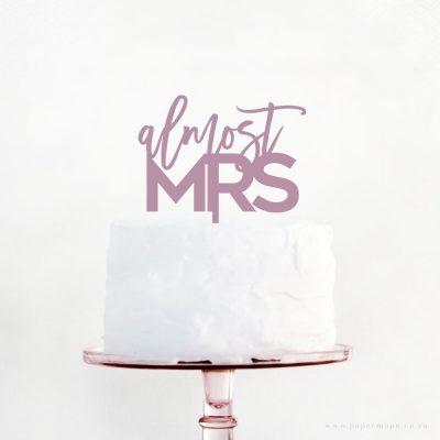 Almost Mrs Cake Topper