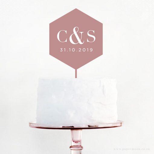 Engraved-Geometric-Cake-Topper