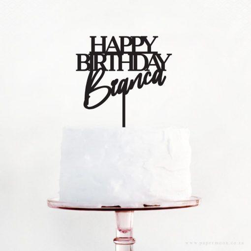 Happy Birthday Custom Cake Topper