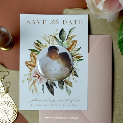 Botanical Save the Date Fridge Magnet
