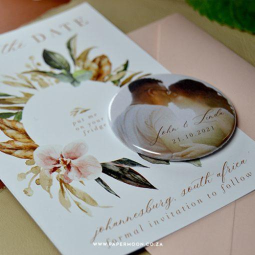 Botanical Save the Date Fridge Magnet