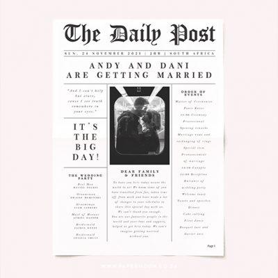 Daily Post Wedding Newspaper