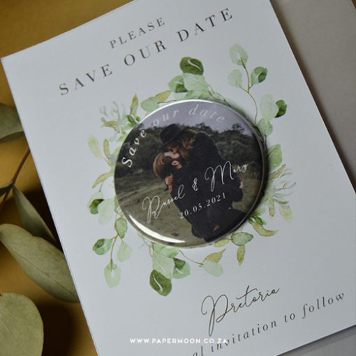 Eucalyptus Save the Date Fridge Magnet